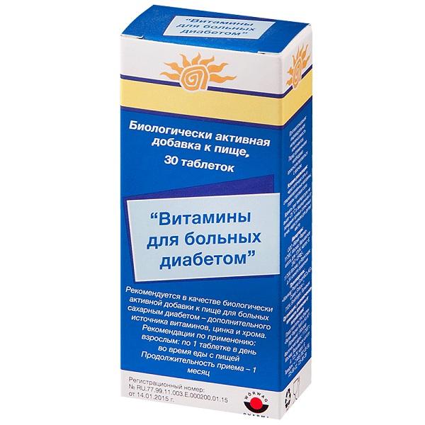 Витамины для больных Диабетом таблетки №30