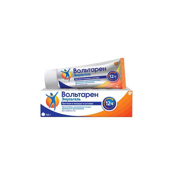 Вольтарен эмульгель (туба 2% 50г (12часов))