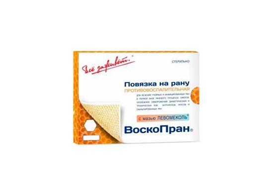 Воскопран Левомеколь мазь (повязка 10х10см №10)