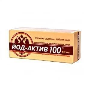 Йод-актив 100 (таб. №60)