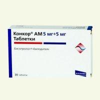Купить Конкор АМ (таб. 5мг+5мг №30), Венгрия