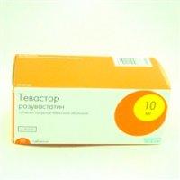 Тевастор (таб. п/о 10мг №90)