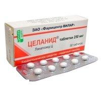 Купить Целанид (таб. 0, 00025г №30), РОССИЯ