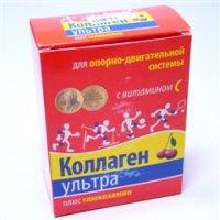 Купить Коллаген ультра плюс (пак. 8г №7 глюкозамин (вишня)), РОССИЯ