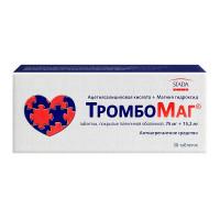 Купить Тромбомаг таблетки 75мг+15, 2мг №30, РОССИЯ