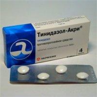Купить Тинидазол-Акри (таб. 500мг №4), РОССИЯ