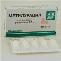 Метилурацил свечи (супп. рект. 500мг №10)