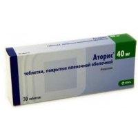 Аторис (таб. п/о 40мг №30)