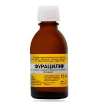 Фурацилин раствор спиртовой 0,067% 10мл