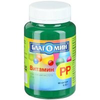 Благомин Витамин РР (никотиновая кислота) (капс. 250мг №90)