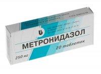 Купить Метронидазол таблетки 250мг №20, РОССИЯ