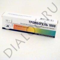 Тромбогель 1000 туба 1000МЕ/г 30г