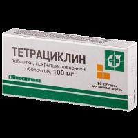 Купить Тетрациклин (таб.100мг №20), РОССИЯ