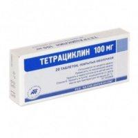 Тетрациклин (таб. п/о 100мг №20)