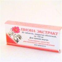 Купить Пиона экстракт (таб. п/о 150мг №30), РОССИЯ