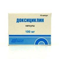 Доксициклин (капс. 100мг №10)