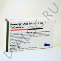 Купить Конкор АМ (0, 01+0, 005 №30 таб.), Венгрия