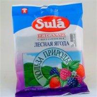 Леденцы Sula б/сахара 60г (пак.) (лесная ягода)