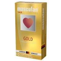 Презервативы Маскулан 5 №10 ультра утонченный латекс золотого цвета