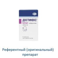 Достинекс таблетки 0,5мг №8