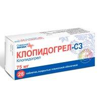 Клопидогрел-СЗ таблетки 75мг №28