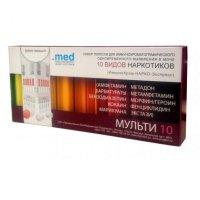 Тест д/выявления наркотиков в моче ((10 видов наркотиков) №1)