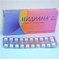Мидиана таблетки 3мг + 0,03мг №21