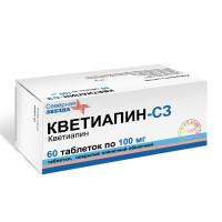 Купить Кветиапин (таб. п/о 100мг №60 (10х6)), РОССИЯ