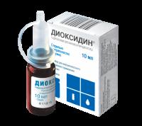 Диоксидин (р-р в/полост/наруж фл.  0,01/мл 10мл)