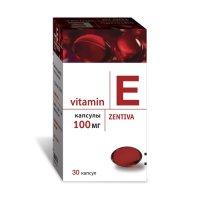 Витамин Е (токоферола ацетат) капсулы 100мг №30