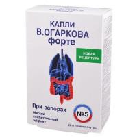 Капли В.Огаркова №5 форте (50мл при запорах)