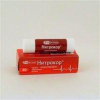 Нитрокор (нитроглицерин) (таб. 500мкг №40)