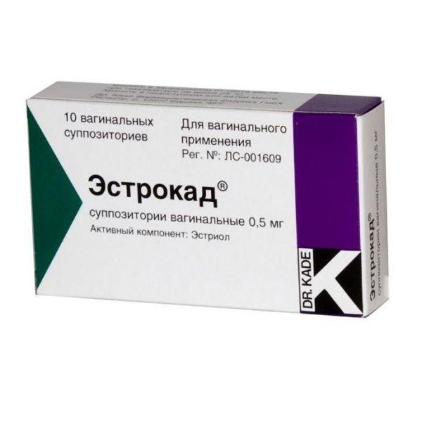 Эстрокад (супп.вагин.0,5 №10)