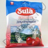 Леденцы Sula б/сахара 60г (пак.) (дикая вишня)