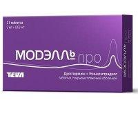 Модэлль Про таблетки 3мг+0,03мг №21