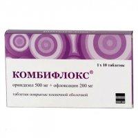 Комбифлокс (таб.п/о 500мг+200мг №10)
