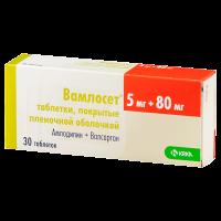 Купить Вамлосет таблетки п/о 5мг+80мг №30, РОССИЯ