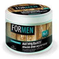 Мыло натур. д/мужчин (банка 450мл д/ух. за кожей,волос и мягкого бритья)