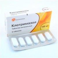 Купить Клотримазол таблетки вагинальные 100мг №6, Великобритания