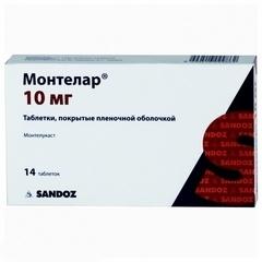 Монтелар таблетки 10мг №14