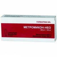 Купить Метромикон-Нео (супп.ваг.500мг+100мг №14), РОССИЯ